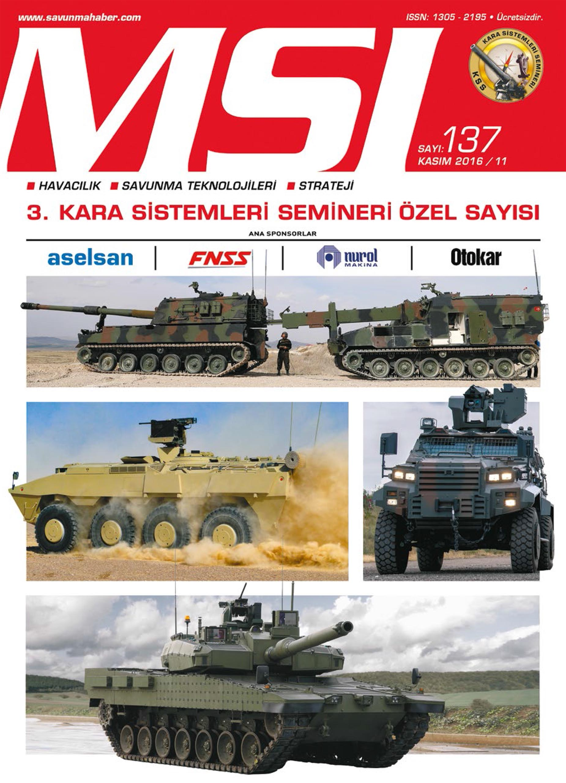 Sayı: KASIM 2016/137 (KSS Özel Sayısı)
