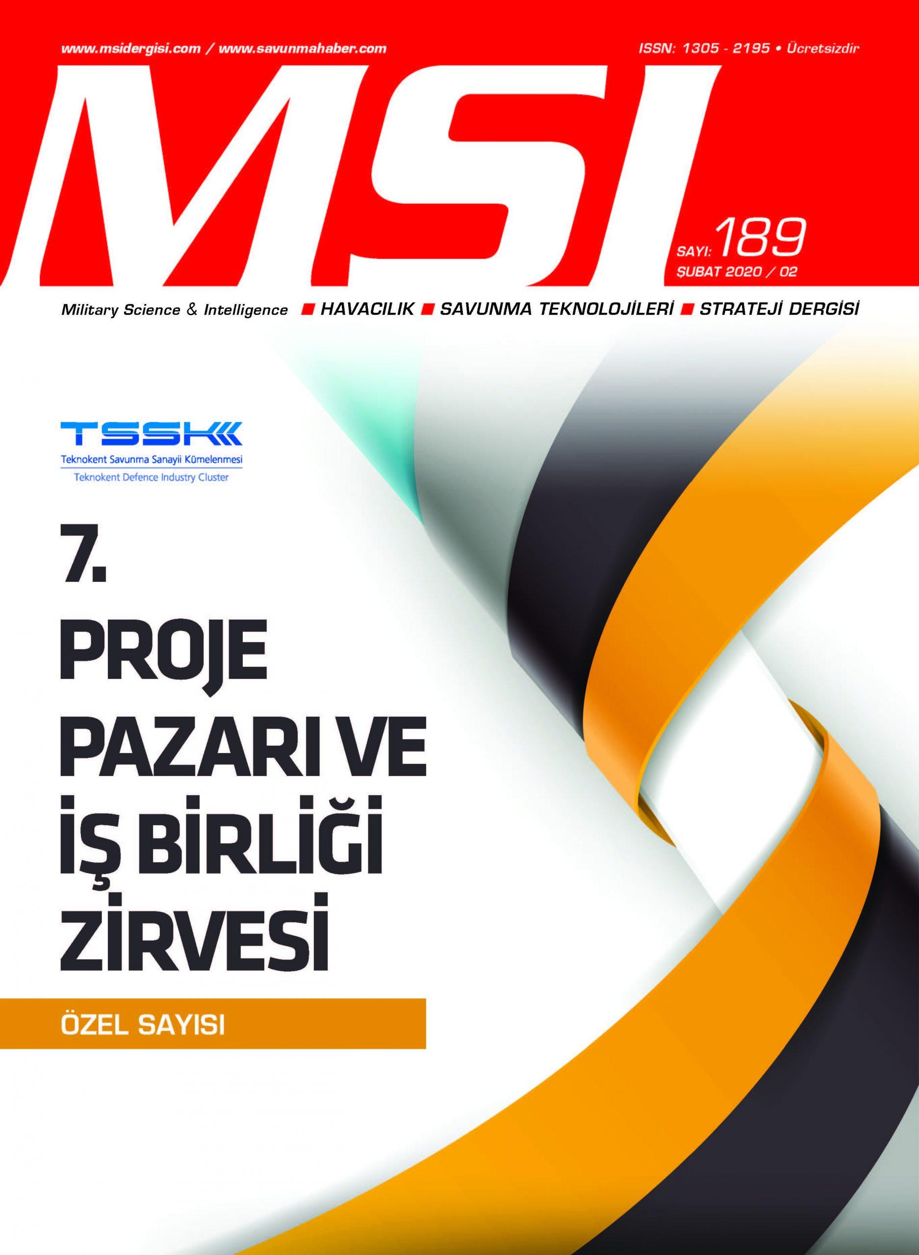 TSSK 7. Proje Pazarı ve İş Birliği Zirvesi Özel Sayısı (Şubat 2020 / 189)