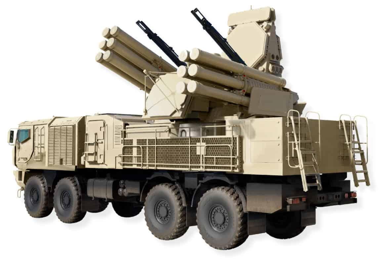 """Şekil 1. JSC """"KBP"""", yeni tehditlerin analizi neticesinde, Pantsir-S1M adı verilen, yeni nesil bir kısa menzilli hava savunma füze ve top sistemi geliştirdi."""