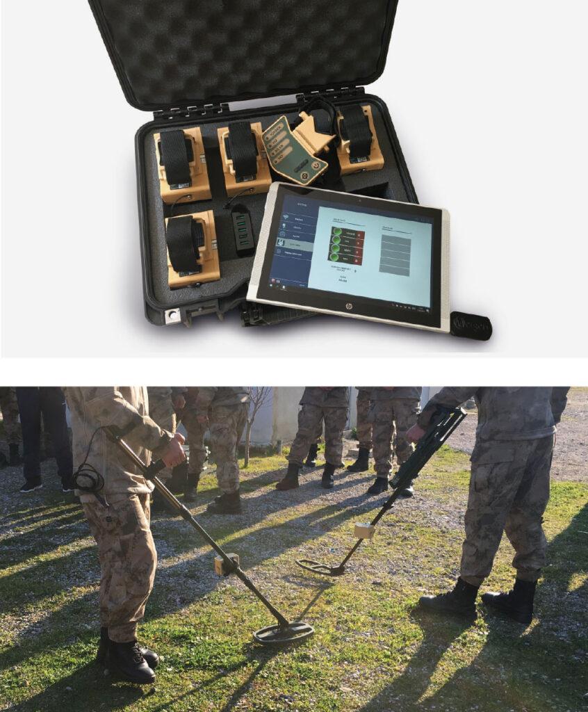 Mesan'ın MERGEN TİM sistemi ile eğitim yapan askerler